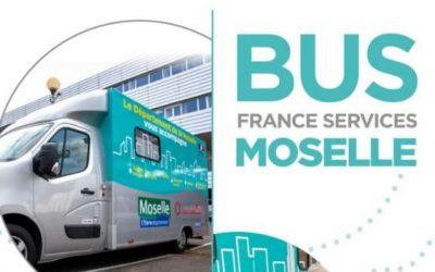 Le bus France Services Moselle fait étape à Petite-Rosselle.